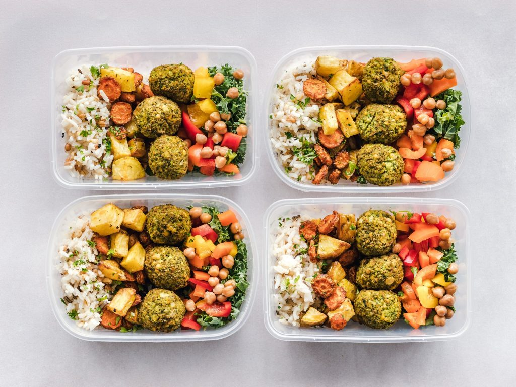 Healthy food in packed lunches